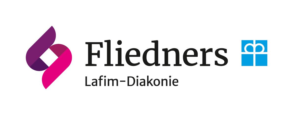"""Logo: Dienste für Menschen mit Behinderung """" Fliedners"""""""