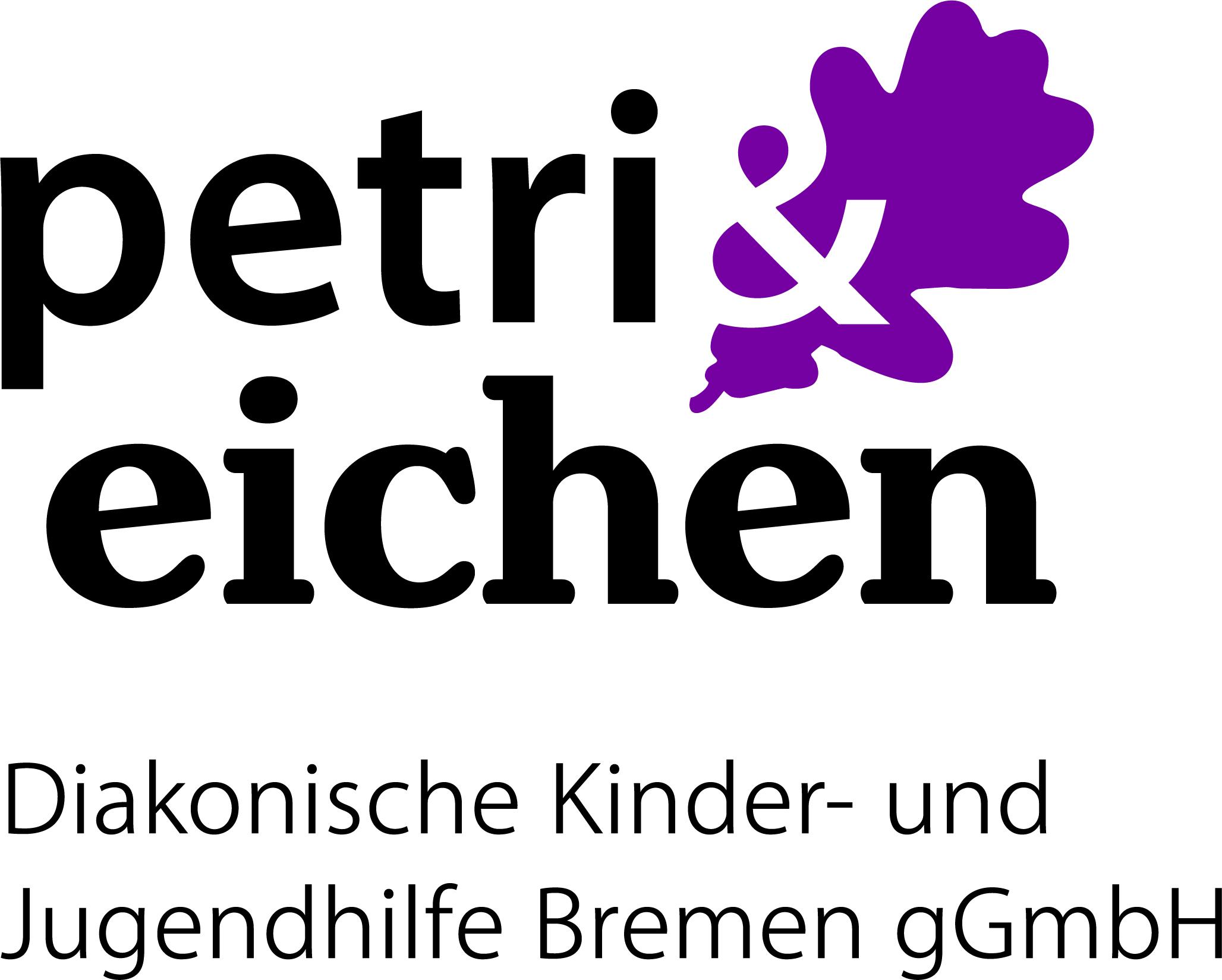 Logo: Petri & Eichen, Diakonische Kinder- und Jugendhilfe Bremen gemeinnützige GmbH