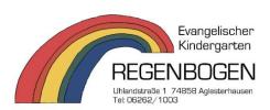 Logo: Evang. Kindergarten Regenbogen, Aglasterhausen